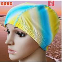 新款简约时尚男女通用布料粉色红黑蓝黄纯色游泳帽