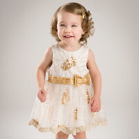 davebella戴维贝拉2017夏季新款女童连衣裙 公主裙 儿童摄影服装