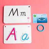 特价26字母学习卡片标准手写英语字母儿童学习卡片字母早教卡