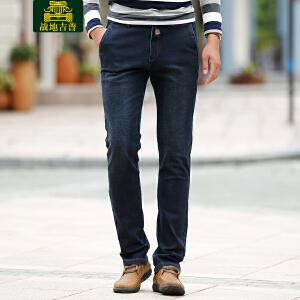 战地吉普AFS JEEP直筒牛仔裤男 2017秋冬季新品修身松紧时尚休闲棉牛仔长裤LZ059
