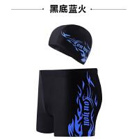 ) 男士泳裤+泳帽平角温泉大码宽松游泳衣时尚泳镜装备五件套装