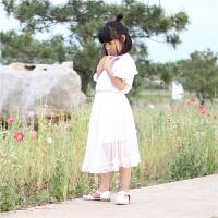 2018春夏新款韩版长裙蕾丝半裙女童半身长裙中大童时尚半裙小童