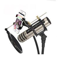 联想UM10C手机麦克风 唱吧话筒 苹果安卓手机麦电脑k歌录音专用话筒 手机声卡直播麦克风