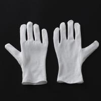 白手套加厚文玩盘珠手套礼仪白手套劳保手套作业手套棉布手套