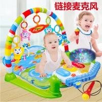 新生儿脚踏钢琴婴儿健身架器带音乐宝宝早教玩具0-1岁投影可遥控新