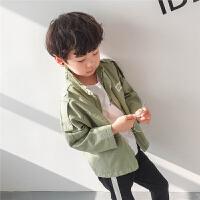 男童工装外套2018春秋新款韩版儿童夹克春装休闲宽松春季小孩潮
