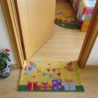 多彩手绣地垫圆形地毯 卡通可爱儿童地垫 圆形转椅 帐篷卧室地垫