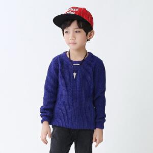 乌龟先生 儿童针织衫 女童长袖圆领单色打底衫冬季新款韩版儿童时尚休闲舒适百搭中小童毛衣