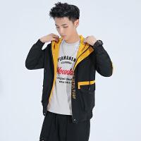 男士外套2020新款春季韩版潮牌休闲工装夹克机能 上衣服