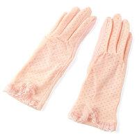 女士防滑开车紫外线薄春天蕾丝长短款式夏季冰丝防晒手套