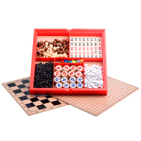国际象棋桌面游戏儿童木制六合一军围棋玩具
