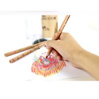 马可(MARCO)6404 原木三角杆四色混芯彩色铅笔 儿童绘画涂鸦笔彩笔 6404-36CT 36支装