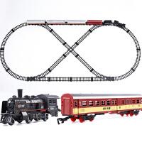 复古轨道车电动小火车 儿童玩具高速蒸汽超长轨道车套装轨道玩具汽车男孩女孩儿童礼物