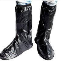 户外男女垂钓 加厚防水鞋套雨衣时尚长筒黑色便捷 防雨鞋套
