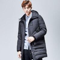 yaloo/雅鹿2017冬季新款男士韩版时尚潮流中长款羽绒服 YS6107650