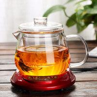 茶壶压嘴内胆 带盖耐热玻璃凉水壶 豆浆壶 茶壶果汁壶办公室花茶杯杯子带盖过滤男女士家用泡茶水杯450ML茶壶