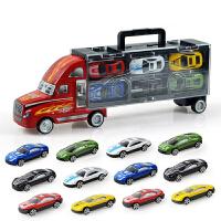 一号玩具 儿童模型手提礼盒货柜汽车玩具车带12只合金车玩具