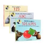 顺丰发货 英文原版 White Rabbit's Colors 123 abc shapes book小兔子系列3本