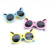 儿童软质太阳镜宝宝偏光眼镜男女童卡通太阳镜小孩户外眼镜