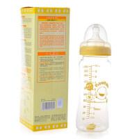 黄色小鸭宽口径葫芦型玻璃奶瓶280ml 830464(十字孔奶嘴)
