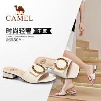Camel/骆驼2019夏季新款 轻奢雅致 时尚华美 凉拖女