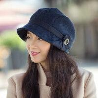 帽子女韩版潮英伦女士休闲百搭日系时装帽中年妈妈帽盆帽