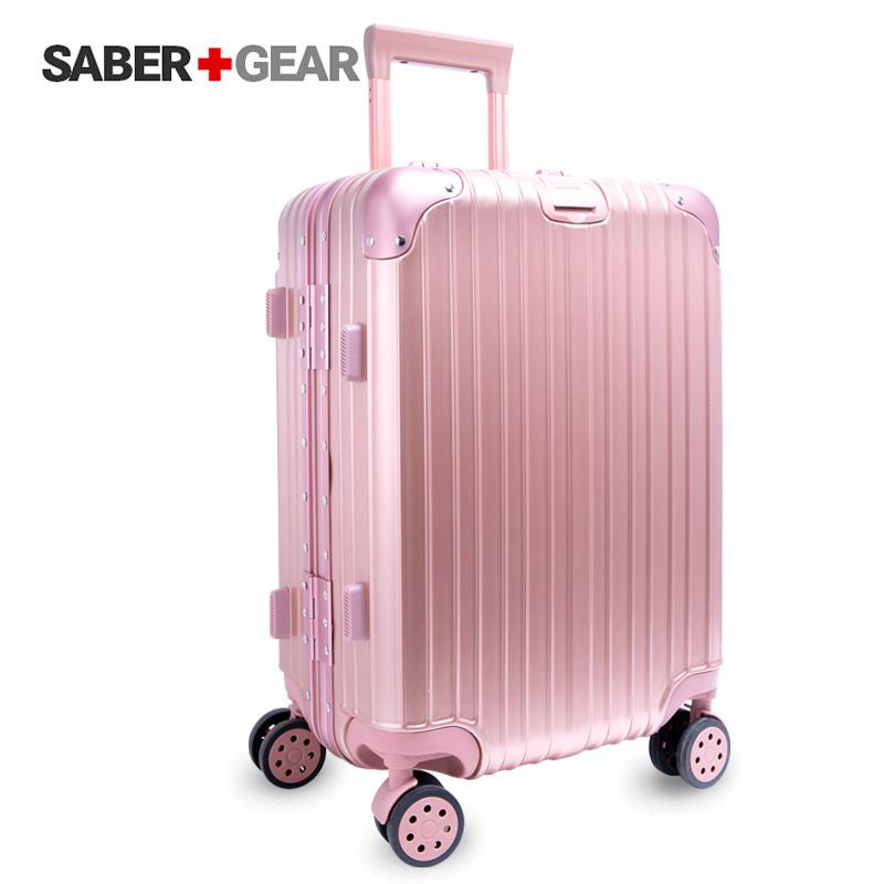 瑞士军刀3色可选20-24寸铝框拉杆箱男女休闲时尚登机箱行李箱潮万向轮铝框拉杆箱 支持货到付款 礼品卡支付