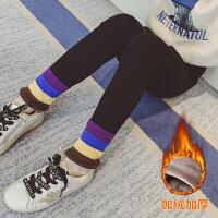 女孩韩版修身弹力加厚小脚裤大童洋气长裤女童加绒打底裤