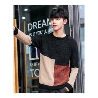 男士毛衣圆领打底衫秋冬季新款男装修身线衣服韩版潮流个性针织衫