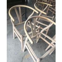 椅子现代简约实木餐椅休闲扶手中式椅北欧椅子靠背椅家用书桌椅 白胚