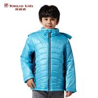 探路者童装 男童女童冬季户外运动儿童保暖带帽棉服