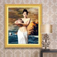 diy钻石画人物油画系列美女图抱陶女魔方圆钻新款大幅粘钻十字绣