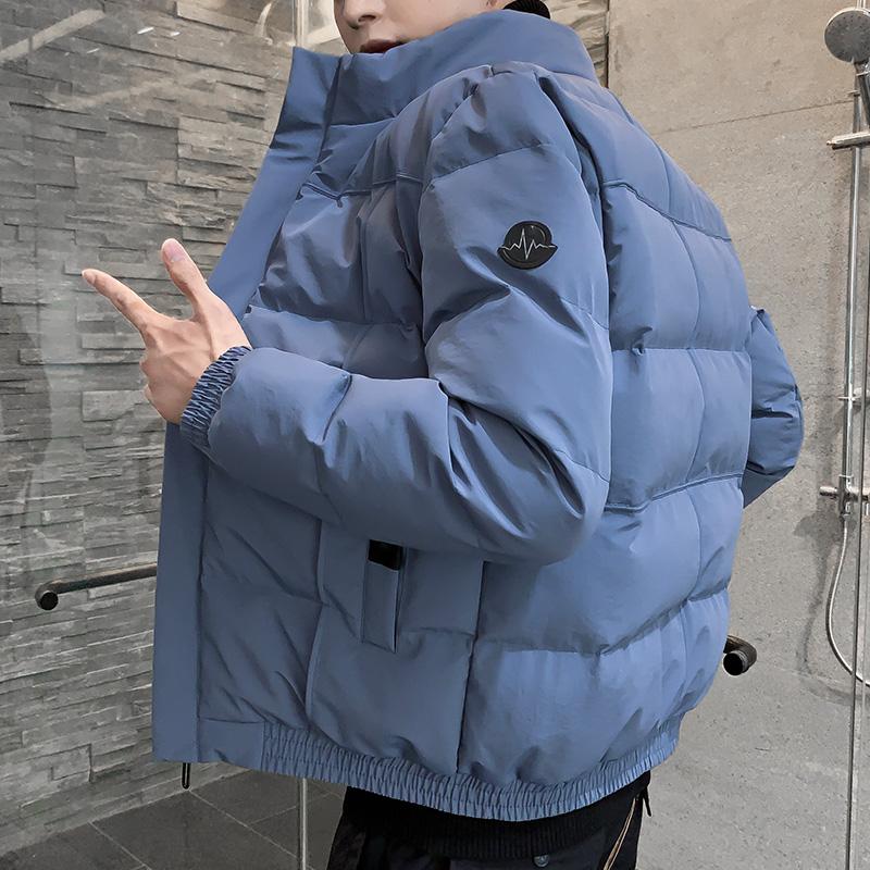 男士外套冬季2019新款棉衣情侣韩版修身潮流短款棉袄