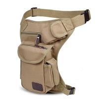 男士多功能帆布军迷战术包户外运动骑行腰包绑腿包工具包