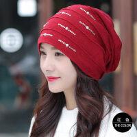帽子女韩版潮套头帽百搭包头帽双层睡帽孕妇产后月子帽头巾帽
