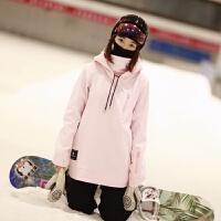 单板滑雪连帽护脸卫衣防风防水抓绒四色新品