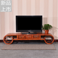 中式电视柜实木仿古电视柜客厅榆木电视机柜储物柜简约矮脚家具定制 整装