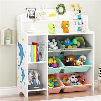 儿童玩具收纳架 宝宝书架绘本架 儿童玩具架子置物架多层收纳箱柜