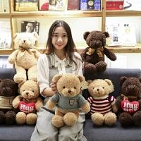 泰迪熊小熊公仔布娃娃毛绒抱抱熊熊猫玩具小号送女友生日礼物女生