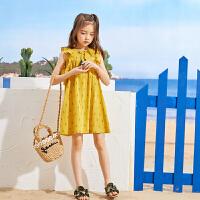 【6.8秒杀价:59】巴帝巴帝童装女童连身裙2019春夏新款纯棉流苏裙子儿童洋气