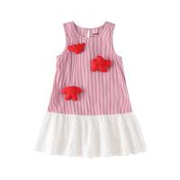 小猪班纳童装女童连衣裙无袖2020春夏新款儿童吊带裙中大童背心裙