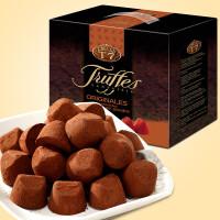 【顺丰速运+冰袋+泡沫箱】乔慕Truffles 法国进口乔慕原味松露巧克力礼盒1kg 进口巧克力进口零食含代可可脂