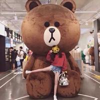大熊毛绒玩具1.8米布朗熊抖音布娃娃公仔女3米抱抱熊猫玩偶送女友