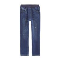 小猪班纳童装男童加绒牛仔裤2018冬装新款儿童保暖长裤中大童裤子