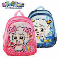 喜羊羊与灰太狼小学生书包 儿童双肩背小学书包(蓝粉 男款女款可选)XJ0155C