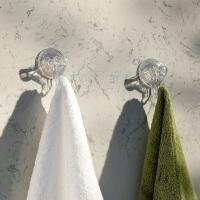 奇居良品 创意厨房收纳用品 卡莎吸盘挂钩2个装 透明色