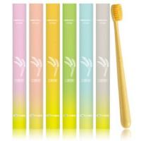 牙刷软毛成人家用小头细软小麦秸秆牙刷旅行家庭装牙刷