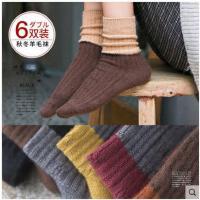袜子女中筒袜秋冬季兔羊毛堆堆袜保暖韩版学院风日系百搭加厚