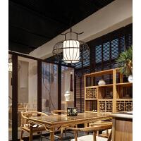 新中式吊灯客厅铁艺现代简约禅意中国风复古餐厅火锅店鸟笼吊灯