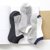毛巾袜子男士加绒加厚短袜秋冬季纯棉防臭运动船袜篮球跑步毛圈袜